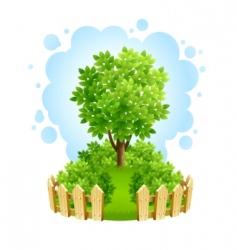 garden fence vector image vector image