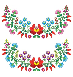 Hungarian floral folk pattern - Kalocsai vector image