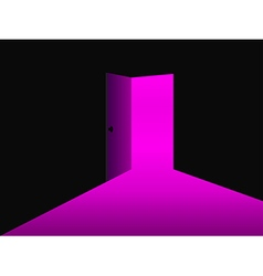 Light from the open door ultraviolet vector