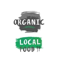 local food label vector image