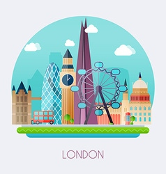 London skyline and landscape of buildings the vector