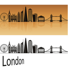 london v2 skyline vector image