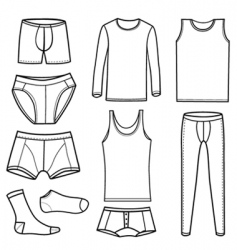 Men's clothing and underwear vector