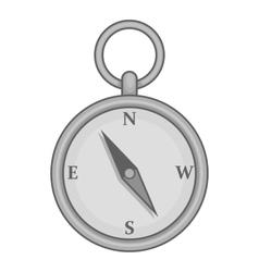 Old compass icon black monochrome style vector