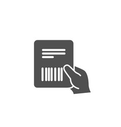 Parcel invoice simple icon delivery document vector