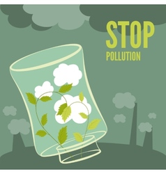 Plants clean the air vector