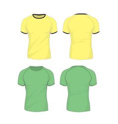 raglan sleeve tshirt template vector image vector image