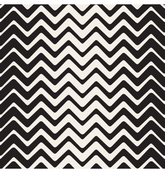 Seamless Black And White ZigZag Rounded vector image vector image