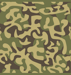 seamless camouflage pattern in green tones vector image