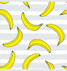 seamless pattern with hand drawn bananas vector image vector image