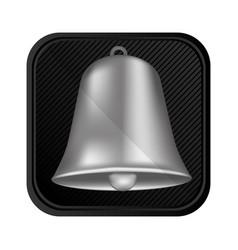 Silver bell symbol icon vector