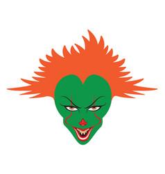 spooky clown face vector image vector image