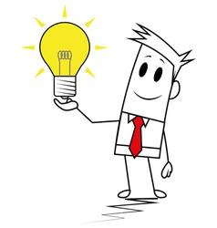 Square guy-Idea vector image