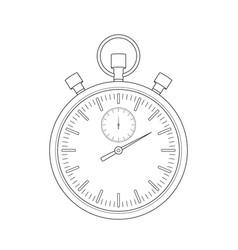 stopwatch sketch vector image