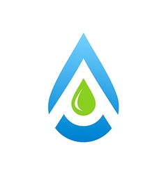 Water drop aqua blue logo vector