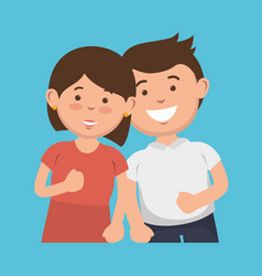 Parent couple avatars characters vector
