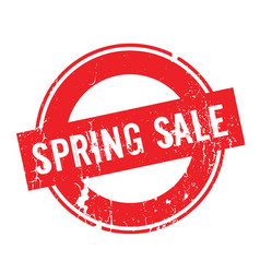 spring sale rubber stamp vector image
