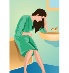Bathroom depression vector