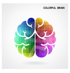 Creative colorful left brain and right brain idea vector