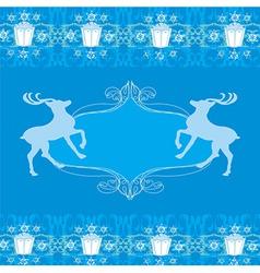 reindeer blue design vector image