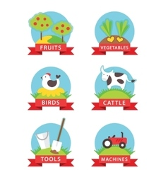 Farm and gardening icons vector