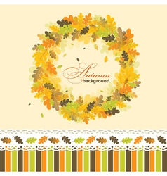 Oak autumn background vector