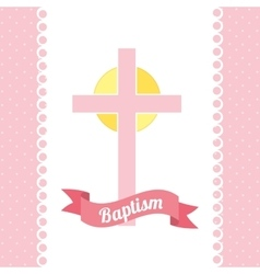 Baptism invitation design vector