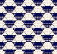 Pattern-triangle-blue-white vector
