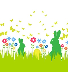 Happy easter spring banner vector
