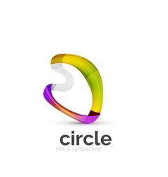 Abstract swirly round logo template vector