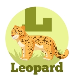 Abc cartoon leopard vector