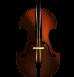 abstract fiddle vector image vector image