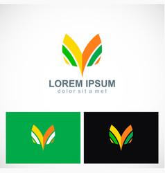 abstract letter v shape logo vector image