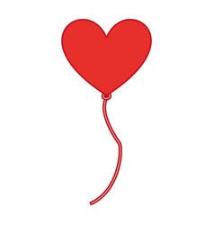 balloon air with shape heart vector image
