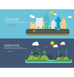 Banners concept of environment green energy and vector