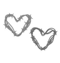 Barbwire hearts vector image