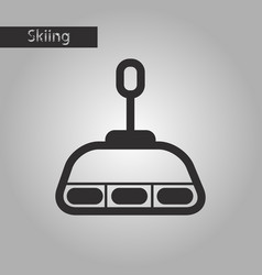 Black and white style icon cabin ski lift vector