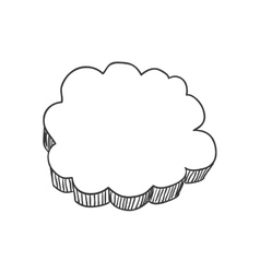 Cloud icon sketch design graphic vector