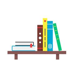 color simple book shelf vector image vector image