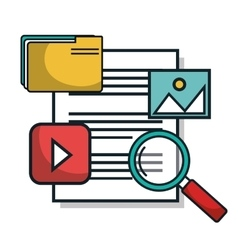 Data center documents server isolated vector