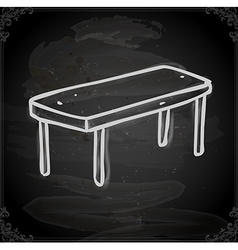 Hand drawn table vector