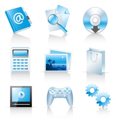 icons for web applications and services vector image vector image