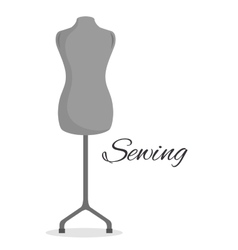 Manikin couturier isolated icon design vector