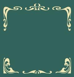 ornamental vintage frame vector image vector image