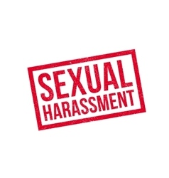 Sexual harassment rubber stamp vector