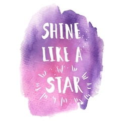 Shine like a star phrase vector