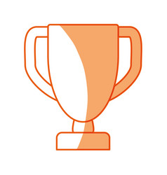 Silhouette prize symbol icon design vector