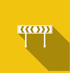 Traffic sign road road block safety barricade vector
