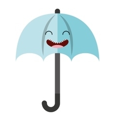 umbrella character isolated icon vector image