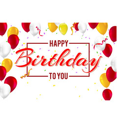 Stylish greetings happy birthday creative car vector
